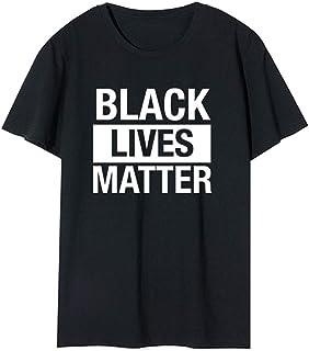 Black Lives Matter T-Shirt, Adult Short Sleeve Summer Casual Cotton T-Shirt for Men Women, Black,XL