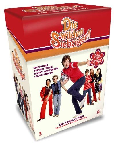 Die wilden Siebziger - Die Komplettbox mit allen 200 Folgen auf 32 DVDs (Cigarette Box mit Episodenguide und Puzzle-Poster aus den Karton-Sleeves)