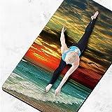 SHRAY Tapis de yoga en daim épais épais 4,5 mm