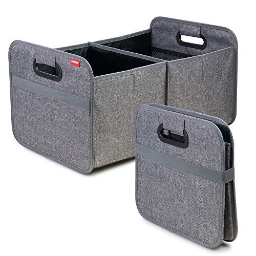 achilles Auto Faltbox, Kofferraum-Organizer, Faltbare Autotasche, Faltkorb, Aufbewahrung Taschen, Kofferraumtasche, Grau, 50 cm x 32 cm x 27 cm