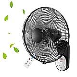 AYXC Ventilador De Pared con Mando A Distancia,Ruido Bajo 3 Velocidades 5 Palas Reversibles,Ventilador Industrial Power Fan Adecuado para El Dormitorio, La Cocina, La Guardería.