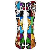 Looney Tunes - Calcetines de compresión para mujer, cómodos, clásicos, para deportes al aire libre, para correr