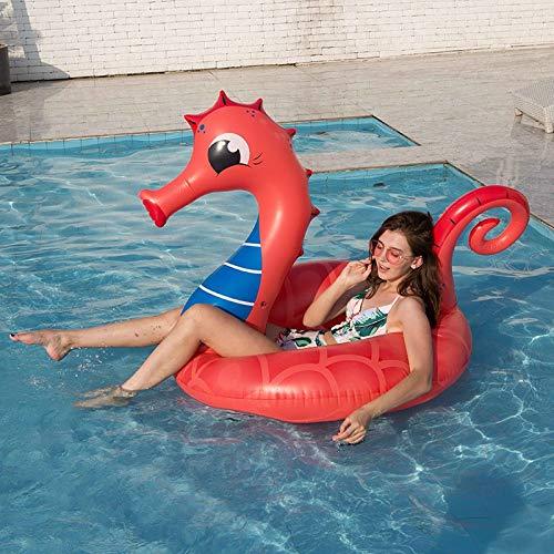 ZA Pferd Pferd Erwachsenen aufblasbaren Schwimm Reihe Dicke rote PVC-Schwimmenring ins Wasser Schwimmen Bett
