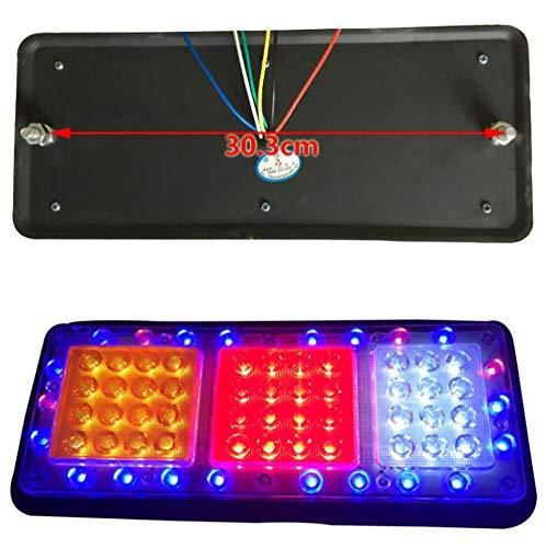 Awsgtdrtg Lumières De Queue De Camion De Remorque De LED, Lampe Colorée De Frein De Lampe De Queue De Camion De Stroboscope 12 / 24V (2PCS),12V