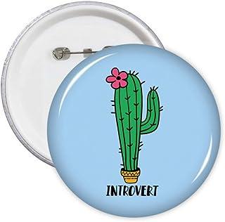 Introvert Cactus Art Déco Cadeau Mode Pin's Badge Badge Emblème Accessoire Décoration 5pcs