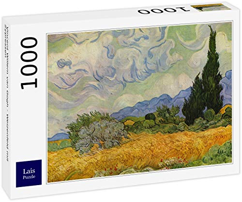 Lais Puzzle Vincent Willem Van Gogh - Campo di Grano con cipressi 1000 Pezzi