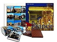 DA CHOCOLATEかわいいキャンディーフランスチョコレートギフトセット13x13cm 1箱。 (凱旋門)