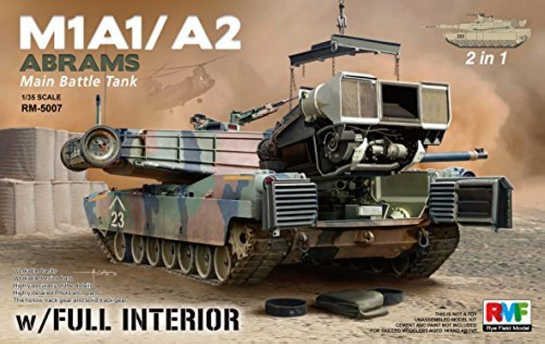 bajo precio RFMRM5007 1 35 Rye Field Field Field Model M1A1 M1A2 Abrams with Full Interior (2 in 1) [MODEL BUILDING KIT] by Rye Field Models  Precio al por mayor y calidad confiable.