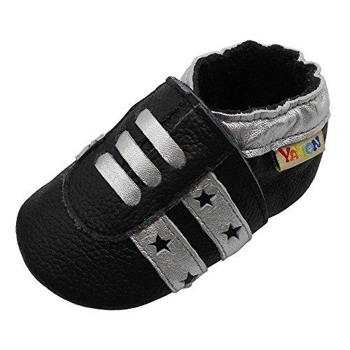 Yalion , Chaussures souple pour bébé (garçon) - Noir - Noir , 18-24 Monate