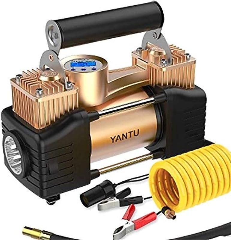 かみそりドルやがて車載インフレータポンプデュアルシリンダー車両タイヤ電気12 vポータブル多機能エアレーション車両インフレータポンプ、22シリンダーデジタルディスプレイ+ツールのフルセット