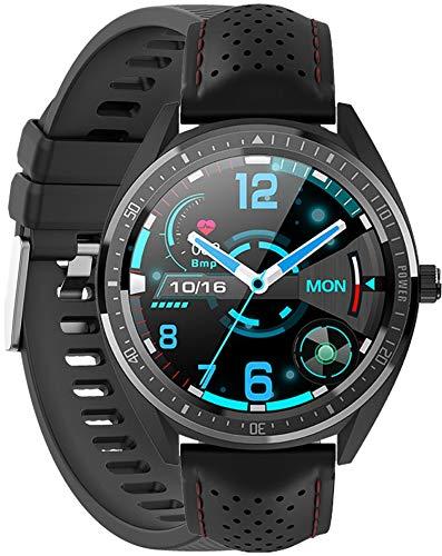 Reloj inteligente Gino Rossi con podómetro, pulsómetro, cronómetro, para mujer, hombre, deportivo, para iOS y Android + correa adicional