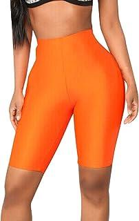 BOLANQ Moda para Mujer Bicicleta Yoga EláStico Pantalones Cortos De Cintura Alta Leggings Deportes Pantalones Casuales