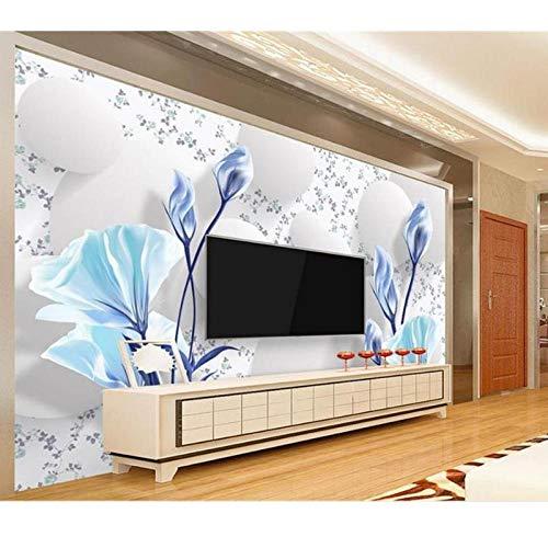 3D behang foto behang, woonkamer muurschildering 3D bol Tulpen bloemen schilderen, bank TV achtergrond behang voor muur 3D 208 cm (B) x 146 cm (H)