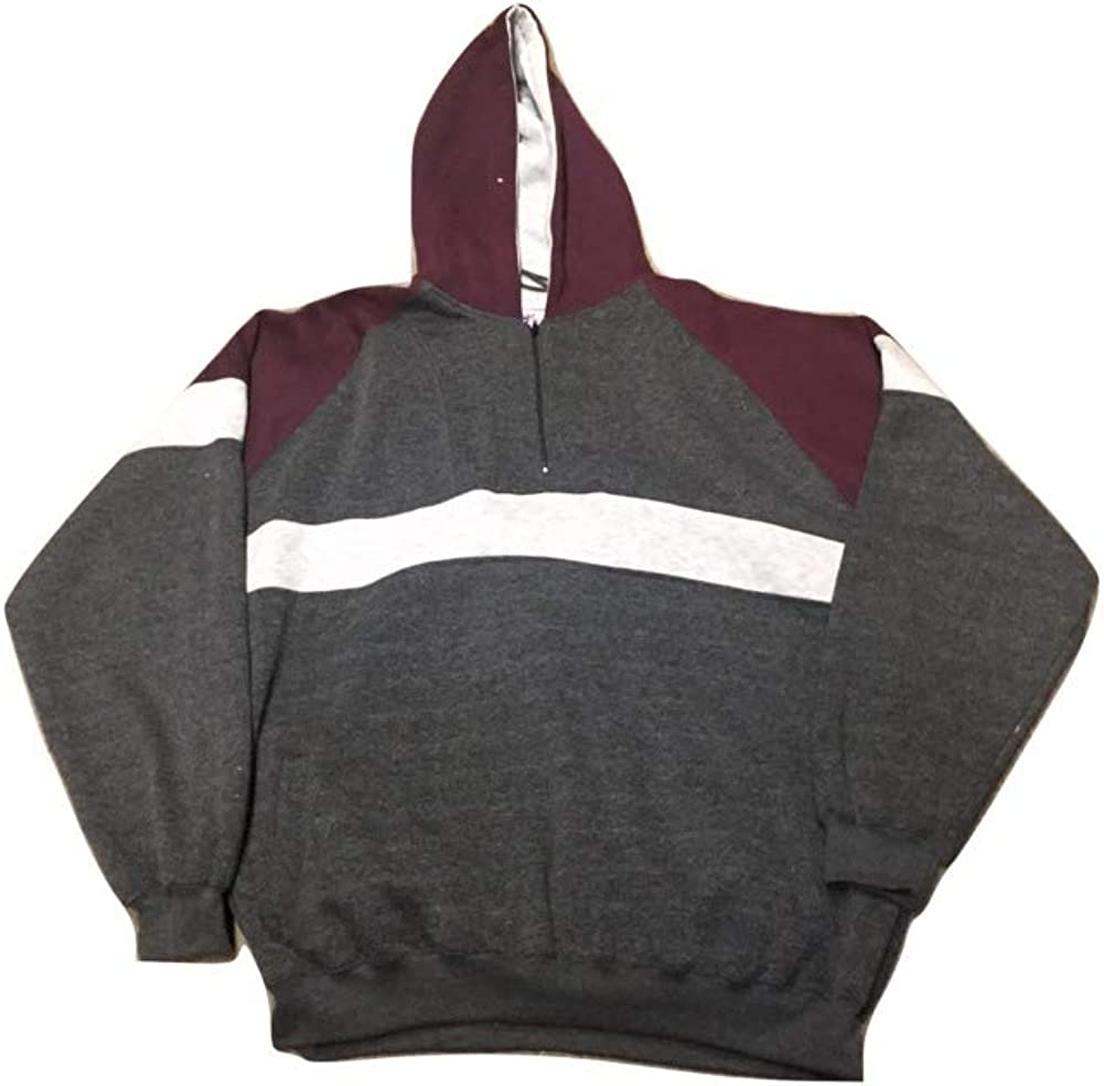 StoutMensShop Big and Tall Quarter Zip Active Fleece Track Jacket with Hood