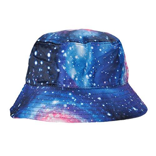 ZLYC ZLYC Herren Frauen Unisex Galaxie Bucket Hat Fischerhüte Sommerhut Outdoor-Hut, Blau, Einheitsgröße