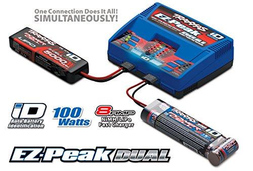 Traxxas EZ-Peak Plus Dual Modellbau-Ladegerät 8A LiPo, NiMH Minus-Delta-U Abschaltung, Akkuerkennun