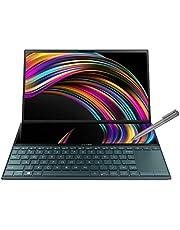 """ASUS ZenBook Duo UX481FL-BM044T - Portátil de 14"""" FullHD (Intel Core i7-10510U, 16GB RAM, 512GB SSD, NVIDIA MX250-2GB, Windows 10) Metal Azul Celeste - Teclado QWERTY Español"""