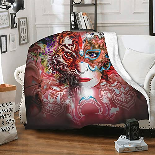 Tiger Woman Chair Cushions, Car Cushions, Interior Decorations. Can Be Used In Any Room-Bedroom, Guest Room, Children's Room, Recreational Vehicle, Vacation