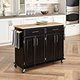 Dolly Madison Black Kitchen Cart by Home Styles, 48-1/4 in. W x 18-1/4 in. D x 35-1/2 in. H