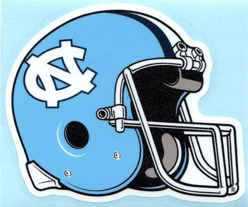 North Carolina Tarheels FOOTBALL HELMET Vinyl Decal Tar Heels Car Sticker UNC