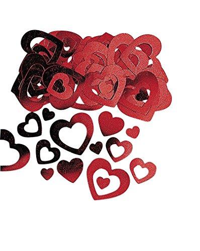 amscan Confettis Coeurs Rouges Saint Valentin - Taille Unique