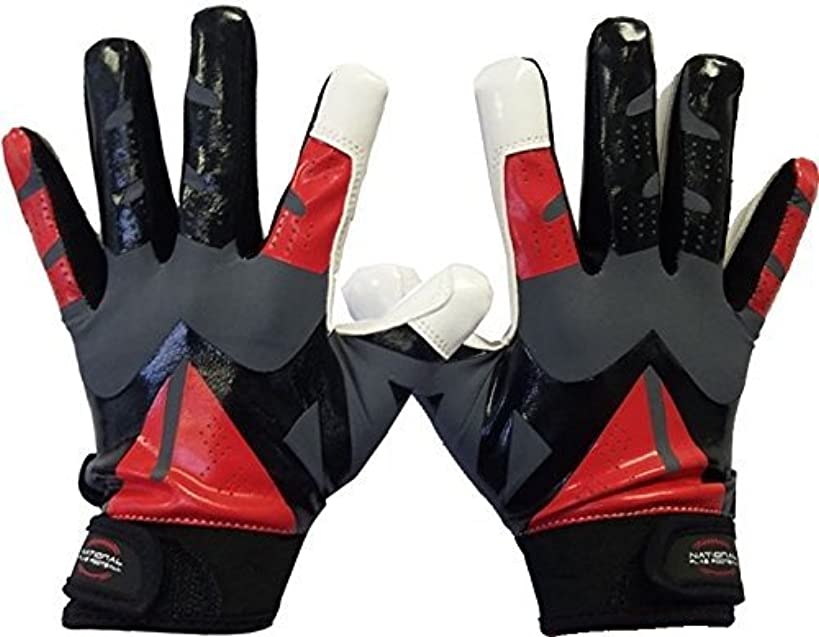 National Flag Football Youth Football Gloves - Specially Designed for 3-12 Year olds