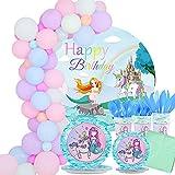 Mermaid Unicorn Party Supplies, Serve 16...