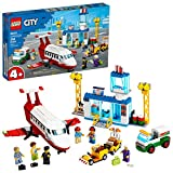 LEGO City Central Airport 60261 Building Toy, with Passenger Charter Plane, Airport Building, Fuel Tanker, Baggage Truck, Cargo and 6 Minifigures, Great Gift for Kids, New 2020 (286 Pieces)