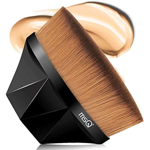 MSQ Foundation Pinsel Make-up Pinsel Kabuki Flat Top Gesicht Pinsel Groove Design Blush Pinsel zum...