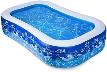 Joyjoz Inflatable 93 X 54 X 24 Inch Swimming Pool