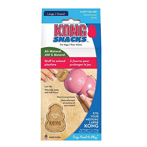 KONG - Puppy Snacks - Biscotti naturali per cani - Large (per giochi in gomma KONG Puppy)