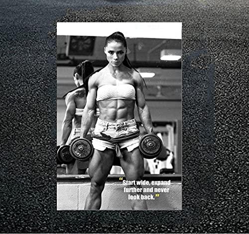Fitness Palestra Poster Sexy Muscolo Allenamento Poster Palestra Motivazionale Parete Arte Bodybuilding Ragazze Potenza Tela Arte Casa Palestra Decorazioni Quadri Cuadros Pared Sala E31053