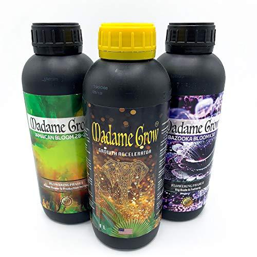 Madame Grow - Fertilizzante per crescita e fioritura, 3 x 1 l