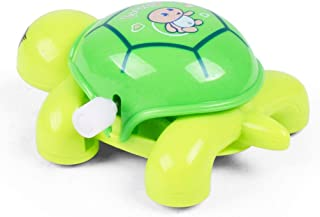 Deniseonuk Random Color Turtle on the Chain Mainspring Toys Parent - children Interaction Educational Pull Line Rope toy