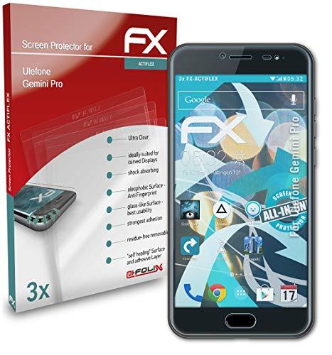 atFolix Schutzfolie kompatibel mit Ulefone Gemini Pro Folie, ultraklare & Flexible FX Bildschirmschutzfolie (3X)