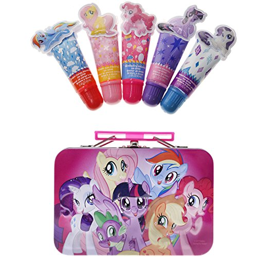 TownleyGirl My Little Pony 4 Pack Lip Gloss with Tin, 5 CT