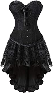 فستان كورسيه من فراويرشو بصدرية علوية وتنورة ستيمبنك ملابس تنكرية نسائية للهالووين