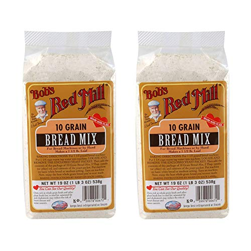 Bob's Red Mill Bread Mix, 10 Grain With Yeast Packet, 19 Ounce (Pack of 2)
