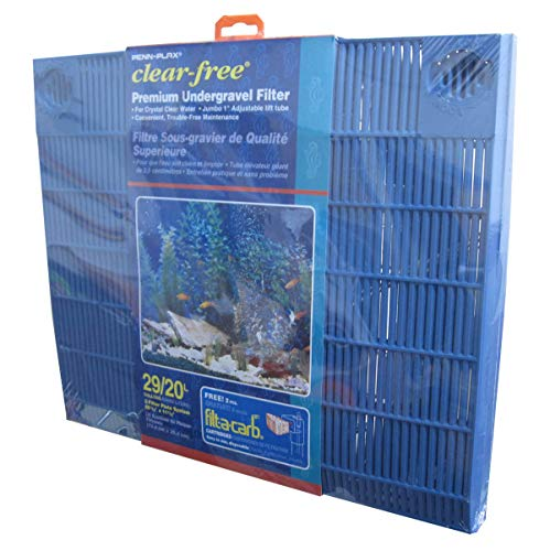 PENN-PLAX Clear-Free Premium Under Gravel Aquarium Filter (UGF) – Freshwater and Saltwater Safe – Suitable for 29 Gallon Tanks