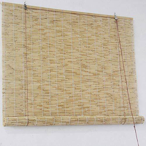 YANYAN Natural Persiana De Bambú Persianas De Caña Enrollables Exterior Retro Cortina De Paja Persiana Enrollable De Bambú Cortina De Caña 90x200cm Decoración De Habitación/52 Tamaños