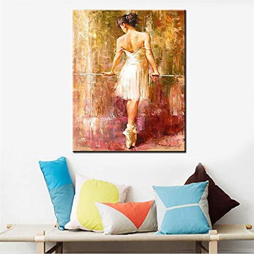 mlpnko DIY Malen nach ZahlenSexy Ballerina Mädchen Bild Hauptdekoration auf Leinwand 40x50cm Rahmenlos