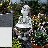 GJJSZ Planta Linda Creativa nórdica,Maceta Grande para Exteriores,Linda Chica de Dibujos Animados,Decorativa para Plantar Flores para bonsái,jardín,Adornos de jardinería,Regalos