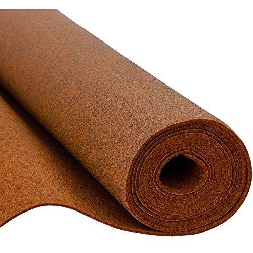 SOFT Filz, Filzstoff, Dekorationsfilz, Weicher Filz, Breite 150cm, Dicke 3mm, Meterware 0,5lfm - melange orange