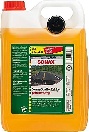 Sonax Scheibenreiniger Gebrauchsfertig Mit Citrusduft 5 Liter Gebrauchsfertiger Reiniger Für Die Scheiben Und Scheinwerferwaschanlage Art Nr 02605000 Auto