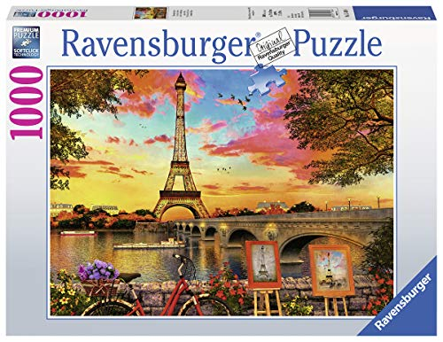 Ravensburger-15168 Ravensburger Banks of The Seine-Puzzle de 1000 Piezas, Multicolor (15168)