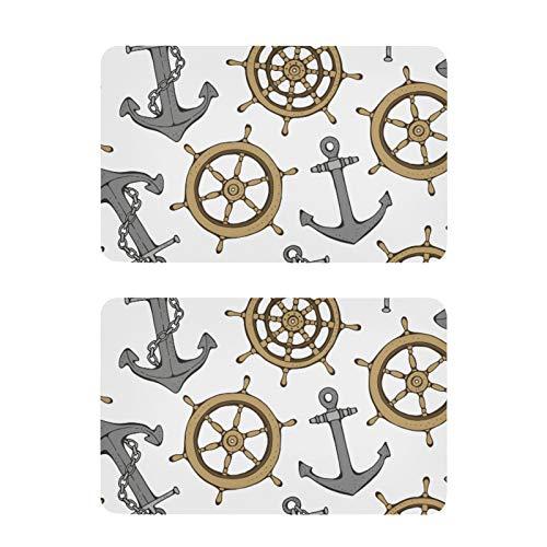 Imanes de refrigerador, para volante de buque de dirección y rueda de anclaje, náutico, divertido, arte para nevera, etiquetas decorativas, 2 unidades