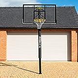 FORZA Basketball Post & Hoop [Socketed] | Adjustable Basketball Hoop | Outdoor Basketball