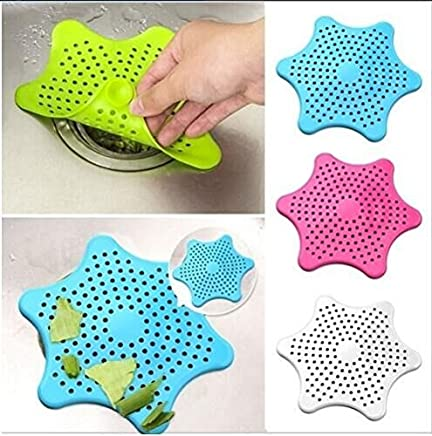 Drhob 3pcs New Cute Home Living Floor Drain Hair Stopper Bath Catcher Sink Strainer Sewer Filter Shower Cover(Random Color)