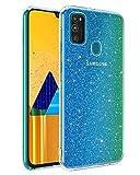 BENTOBEN Samsung Galaxy M30s Hülle Handyhülle Glitzer,