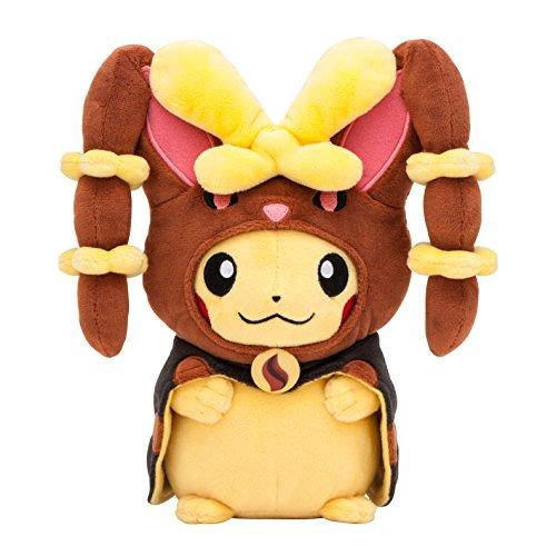 Pokemon Center Original Stuffed Dolls Pikachu Wearing a Poncho of mega Mimi lop